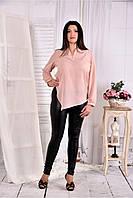 Женская блуза свободного кроя 0580 цвет розовый размер 42-74