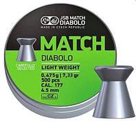 Пульки JSB Match Diabolo Light 4.50мм (0,475гр) 500шт., фото 1