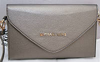 Женская сумка-клатч Michael Kors, цвет серый металлик Майкл Корс MK