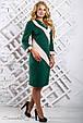 Стильное женское платье 2317 зеленый (52-58), фото 2