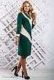 Стильное женское платье 2317 зеленый (52-58), фото 3