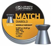 Пульки JSB Match Diabolo Middle 4.50мм (0,52гр) 500шт.