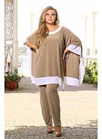 Женский костюм двойка туника+брюки Одди размер 48-72