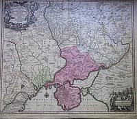 Карта Украины 1740-е годы Turcicarum et Tartaricum