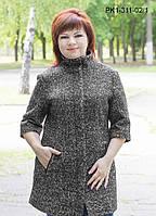 Женское полупальто полуприлегающего силуэта из шерстяной ткани – букле  размер 52-58