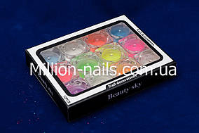Набор фосфорного песка для дизайна ногтей, 12 шт.
