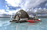 Автономный дом купол. Хаусбот. Houseboat