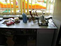 Стол офисный серый