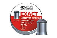 Пульки JSB DIABOLO Monster 4.52мм (0,87гр) 400шт.