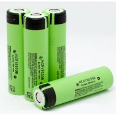 Аккумулятор 18650 Li-Ion Panasonic NCR18650B, 3400mAh, 3.4A, 4.2/3.6/2.5V, зеленый