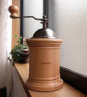 Дизайнерская японская кофемолка Hario Mill Column с керамическими жерновами и регулировкой уровня помола
