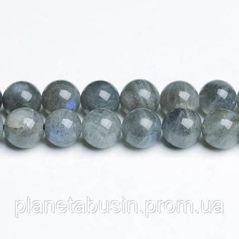 8 мм Лабрадорит АА, CN307, Натуральный камень, Форма: Шар, Отверстие: 1мм, кол-во: 47-48 шт/нить, фото 2