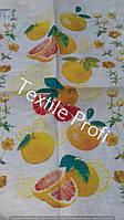 """Льняное полотенце """"Грейпфруты"""" (50 см на 70 см)"""