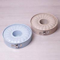 Разъемная форма со сменным дном и мраморным антипригарным покрытием для кекса Ø26*7см Kamille a6023