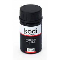 Каучуковое покрытие для гель лака 14 мл Rubber Top Gel Kodi Professional