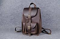 Женский кожаный рюкзак Свифт на затяжке | Винтажный Кофе, фото 1