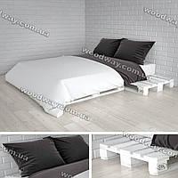 Двуспальная кровать из поддонов, мебель для спальни из паллет