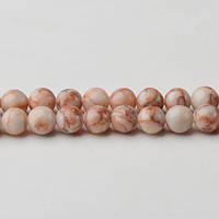 Яшма Красные Вены,Натуральный камень, На нитях, бусины 8 мм, Шар, Отверстие 1 мм, кол-во: 47-48 шт/нить