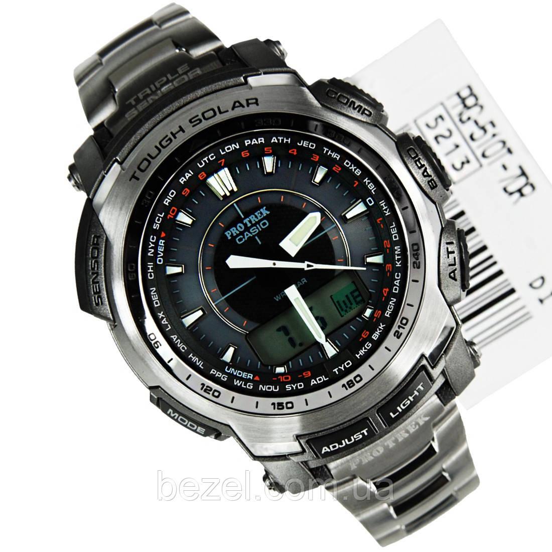 Мужские часы Casio Protrek PRG-510T-7 Solar Titanium   продажа e6fe49a0fcf3