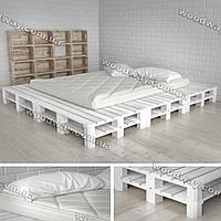 Кровать-подиум из паллет, деревянная мебель для спальни из поддонов