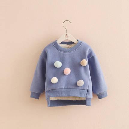 Кофта детская теплая пушистые шарики, фото 2