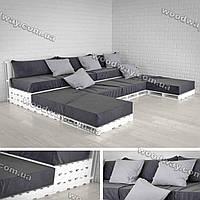 Диван-подиум из европоддонов, мебель под мягкий уголок из паллет