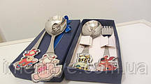 Детская посуда для кормления с гравировкой на подарок ложка с именем ребенка