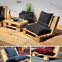 Стулья из поддонов со столиком, сиденья из паллет, мебель для террасы