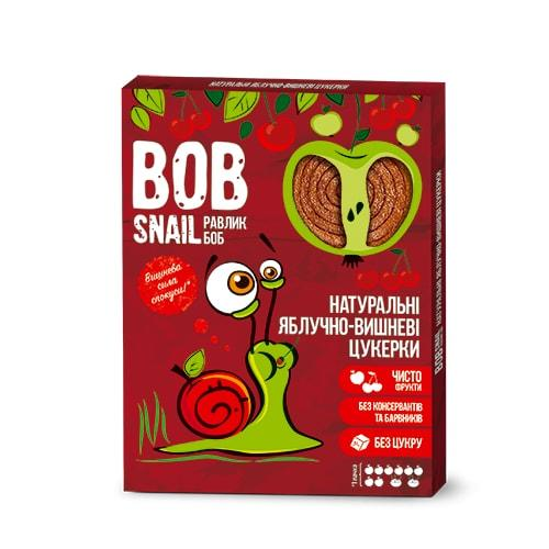 Натуральные яблочно-вишневые конфеты Bob Snail Равлик Боб, 120 г