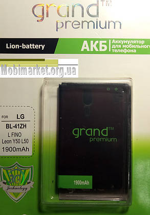 Акумулятор BF-41ZH GRAND Premium для LG L Fino Dual D295/ Leon Y50 H324/ L50 D213/D221 1900mAh Original, фото 2