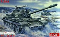 1:35 Сборная модель танка Т-55А, Скиф МК221