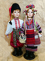 Куклы-парочка, украинцы парочка, куклы в национальном костюме (70 см.)
