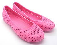 Женские резиновые балетки. Модель: 701 (розовый). Размеры: 36 - 40.