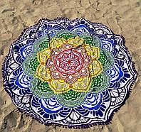 Пляжный коврик Мандала фиолетовый, 140 см