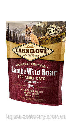 Carnilove Cat 0,4 kg Lamb & Wild Boar - Sterilised (д/стерилизованных), фото 2