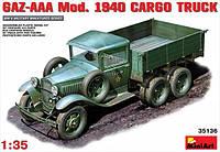 1:35 Сборная модель автомобиля ГАЗ-ААА (1940 г.), MiniArt 35136