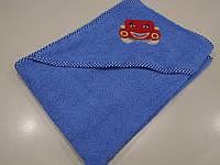 Полотенце с капюшоном (голубое)