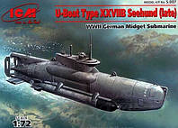 1:72 Сборная модель подводной лодки U-boat Type XXVIIB 'Seehund' (поздняя), ICM S.007