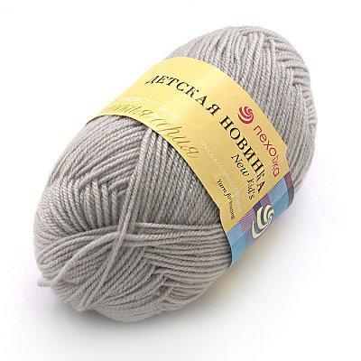нитки для ручного вязания пряжа детская новинка светло серый