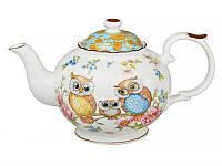 """Фарфоровый заварочный чайник """"Совы"""" 1 л Lefard 924-089"""