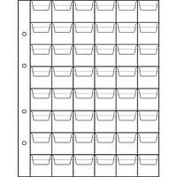 Лист для монет 200х250мм на 48 ячеек (28х30мм), фото 1