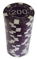 """Набор для покера с номиналом """"200"""" - 25 штук; MA06"""