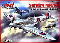 1:48 Сборная модель самолета Spitfire Mk.VII, ICM 48062