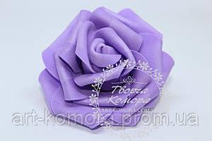 Головка розы латексная фиолетовая, 7-8 см