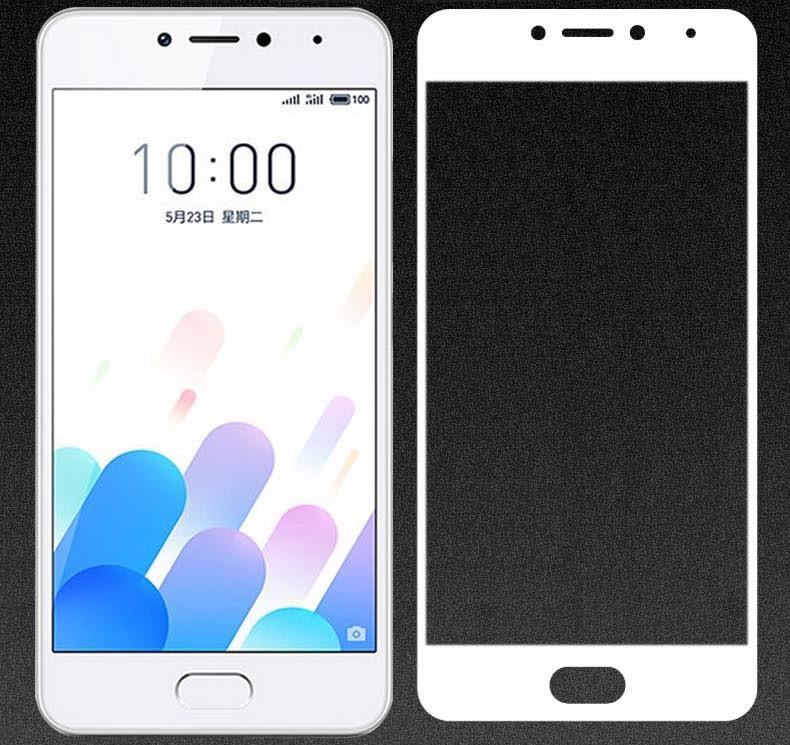 Full Cover защитное стекло для Meizu M5c - White
