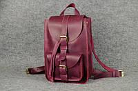 Кожаный городской рюкзак Свифт   Винтажный Бордо, фото 1