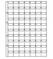 Лист для монет 200х250мм на 70 комірок (24х25мм), фото 1