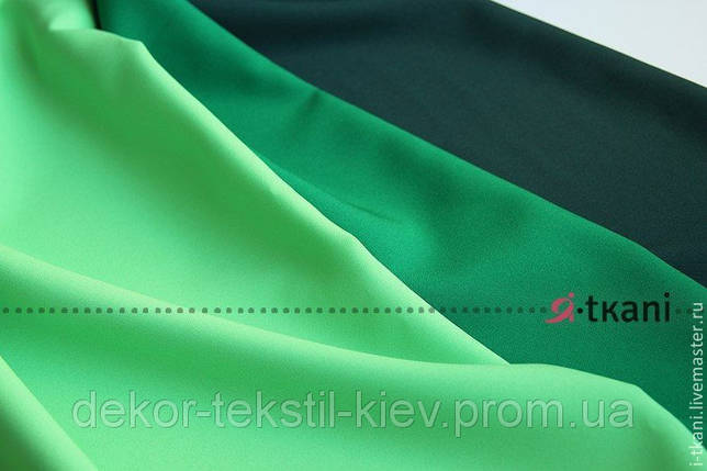 Габардин зелёный №22, ткань , фото 2