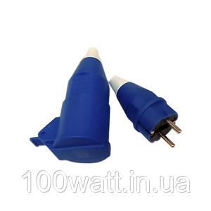 Разъём ( Груша) 1ф. 16А (вилка+розетка) синяя TUNA ST144