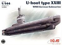 1:144 Сборная модель подводной лодки U-boat Type XXIII, ICM S.004
